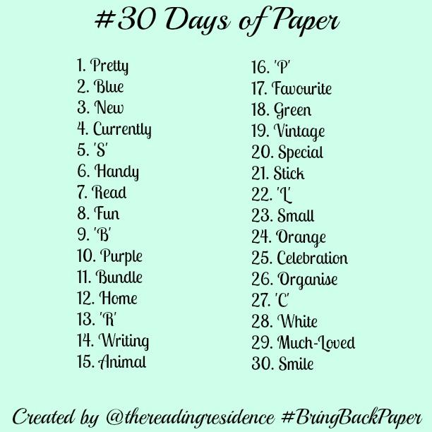 30DaysOfPaper