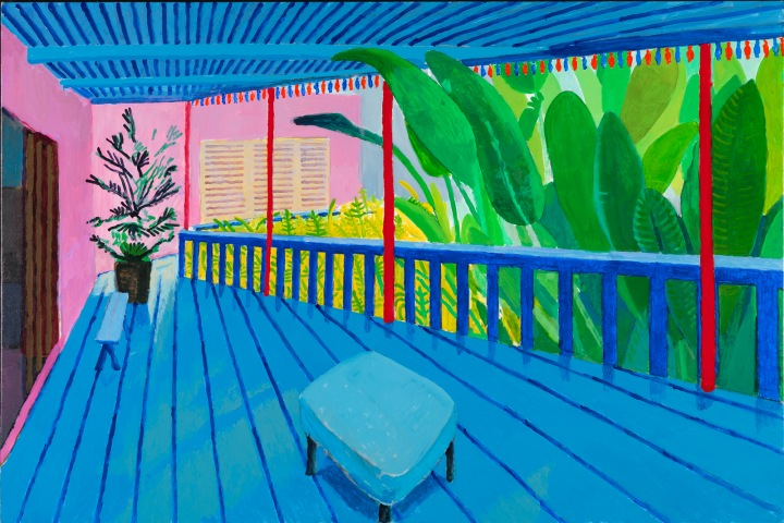 Garden with Blue Terrace